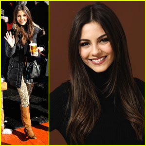 Victoria Justice: Cheetah Print Pants!