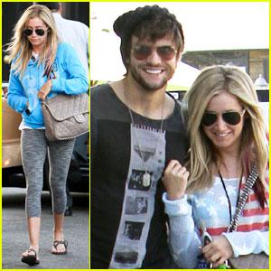 Ashley Tisdale & Martin Johnson: Studio City Smiles!