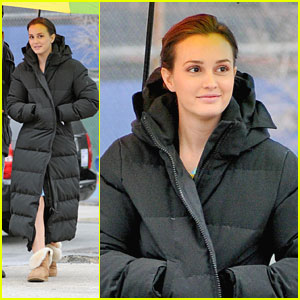 Leighton Meester: Under the Rainbow Umbrella