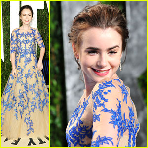 Lily Collins: Vanity Fair Oscar Party!
