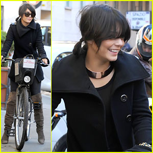 Vanessa Hudgens: Bike Ride in Rome