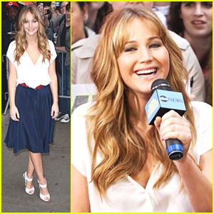 Jennifer Lawrence Talks Taped Ankles on 'GMA'