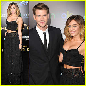 Liam Hemsworth &#038; Miley Cyrus: 'The Hunger Games' Premiere Pair