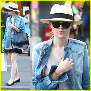 Dakota Fanning: Chic in Chambray