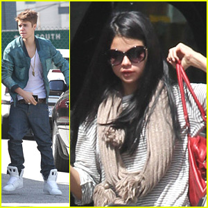 Justin Bieber & Selena Gomez Run Errands on Wednesday