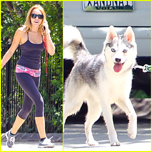 Miley Cyrus' Sunday Walk With Floyd