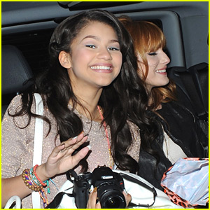 Zendaya &#038; Bella Thorne Depart Disney Store