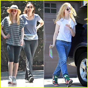 Dakota & Elle Fanning: Saturday Outings