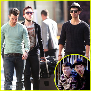 Kevin &#038; Joe Jonas: Pastis Restaurant Lunch