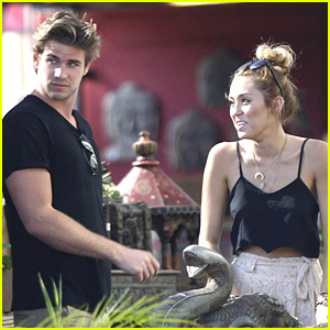 Miley Cyrus &#038; Liam Hemsworth: Garden Shopping Sweeties