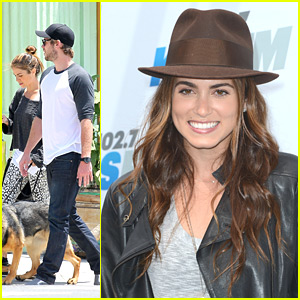 Nikki Reed & Liam Hemsworth: Santa Monica Meet Up