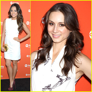 Shay Mitchell &#038; Troian Bellisario: ABC Family Upfronts with Ian Harding