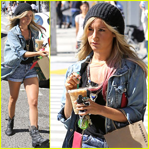 Ashely Tisdale: Thursday Coffee Run