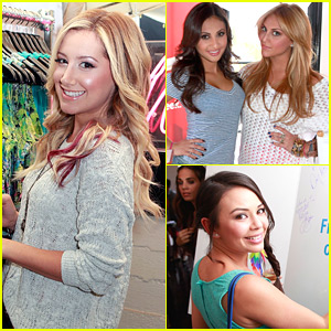 Ashley Tisdale: Colgate Optic Beauty Bar with Janel, Francia &#038; Cassie!