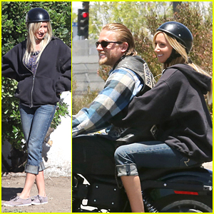 Ashley Tisdale: Motorcycle Ride on 'Sons of Anarchy'