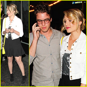 Dianna Agron: Jack White Concert Cutie!