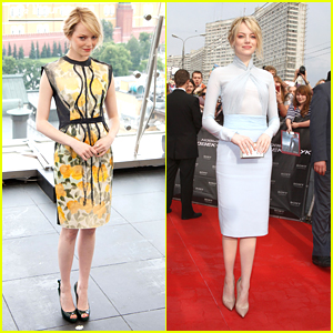 Emma Stone: 'The Amazing Spider-Man' in Moscow!