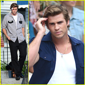 Liam Hemsworth: Face Bandage on 'Empire State' Set