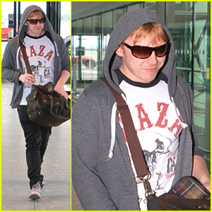 Rupert Grint Heads Into Heathrow Airport