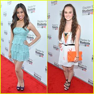 Madeline Caroll &#038; Ashley Argota: Staples For Students School Supply Drive 2012