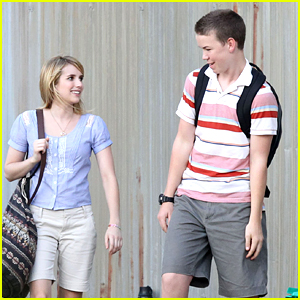 Emma Roberts &#038; Will Poulter: First Day on 'We're The Millers'