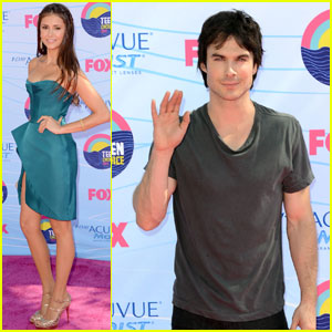 Nina Dobrev &#038; Ian Somerhalder - Teen Choice Awards 2012