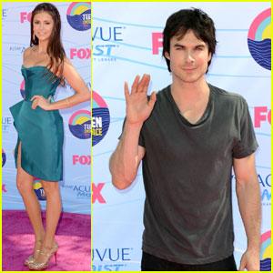 Nina Dobrev & Ian Somerhalder - Teen Choice Awards 2012
