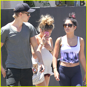Vanessa Hudgens: Studio Cafe Lunch with Austin &#038; Stella!