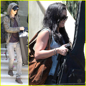 Vanessa Hudgens Leaves Town with Austin Butler