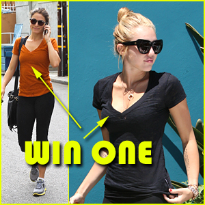 Win a FREE Soffe 'Burnout' Tee -- Just Like Miley &#038; Nikki!