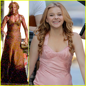 Chloe Moretz: 'Carrie' Bloody Prom Scene!