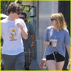 Emma Roberts: Oaks Gourmet Lunch with Evan Peters