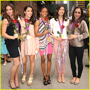 Gabby Douglas & McKayla Maroney: 'Fierce Five' at Letterman!