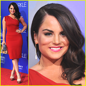 Jojo: Red Hot at 'Sparkle' Premiere!