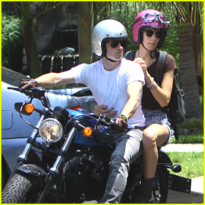 Josh Hutcherson: Motorcycle Movie Date with Lanchen Mihalic