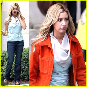 Ashley Tisdale: 'Scary Movie 5' Set