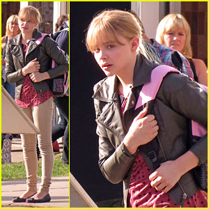 Chloe Moretz: 'Kick-Ass 2' Set!