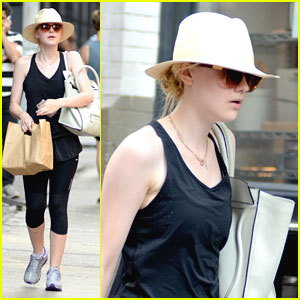 Dakota Fanning: Groceries After Gym