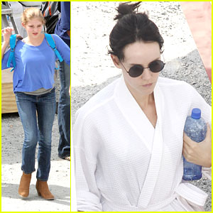 Willow Shields: 'The Hunger Games: Catching Fire' Set with Jena Malone