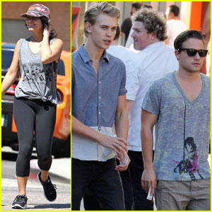 Vanessa Hudgens & Austin Butler Spend Time with Pals