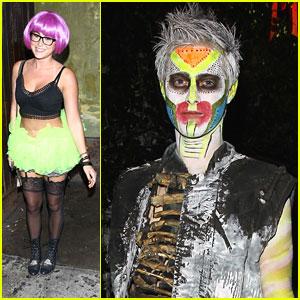 Alexa Vega: Matthew Morrison's Halloween Party with Lucas Grabeel