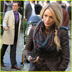 Blake Lively: 'Gossip Girl' with Ed Westwick &#038; Leighton Meester!