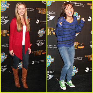 Greer Grammer & Jessica Lu: 'Awkward' Haunted Hayride