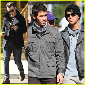 Nick, Joe & Kevin Jonas: Out & About in New York