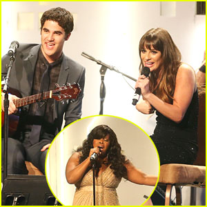 Lea Michele & Amber Riley Perform at Rising Stars Gala 2012