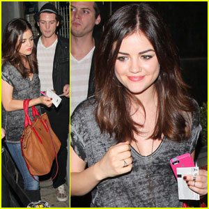 Lucy Hale: ZZ Ward Concert Cutie!