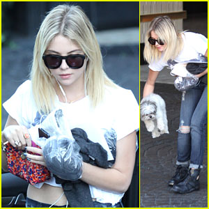 Ashley Benson: London Hotel Stop with Olive