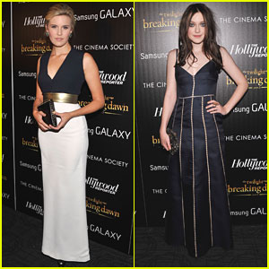 Dakota Fanning & Maggie Grace: 'Breaking Dawn' in the Big Apple