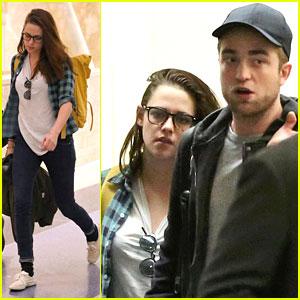 Kristen Stewart & Robert Pattinson: LAX Landing!