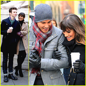 Lea Michele & Chris Colfer: Back in the Big Apple for 'Glee'